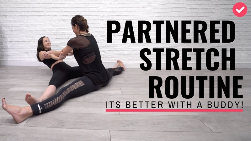 Partnered Stretch routine with trainers Chloe Bruce and Grace Bruce 20 minute workout
