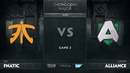 Fnatic vs Alliance Game 2 Group D The Chongqing Major 2019