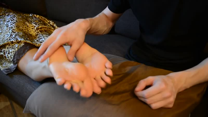 Feet massage and fetish