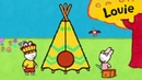 Louie draw me a tepee Learn to draw cartoon for kids