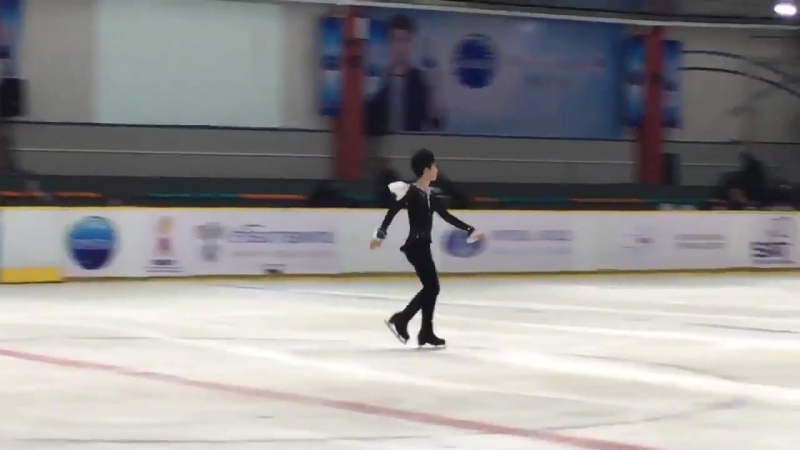 Sota SP practice runthrough 04.08.2018 morning がんばってね AsianOpenFigureskatingTrophy AsianOpenTrophy2018 AOFST2018 AsianTrophy Sot