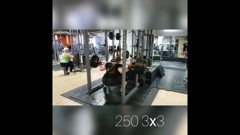 присед 250