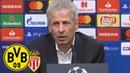 Zweites Spiel, zweiter Sieg! | PK mit Lucien Favre | BVB - AS Monaco 3:0