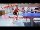 Three exercises about forehand and backhand——Yangyang's table tennis lessons