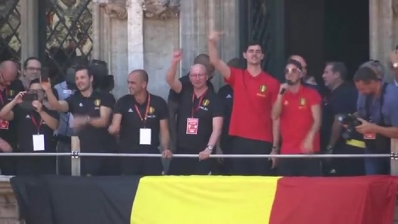 """Bleacher Report Football on Instagram: """"Belgium's homecoming celebrations were run by the one and only @hazardeden_10 🎉🇧🇪😂"""""""