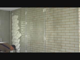 Как сделать имитацию кирпичной кладки на стену