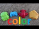 Learn colors for kids sand shapes finger family song nursery rhymes plane typewriter house