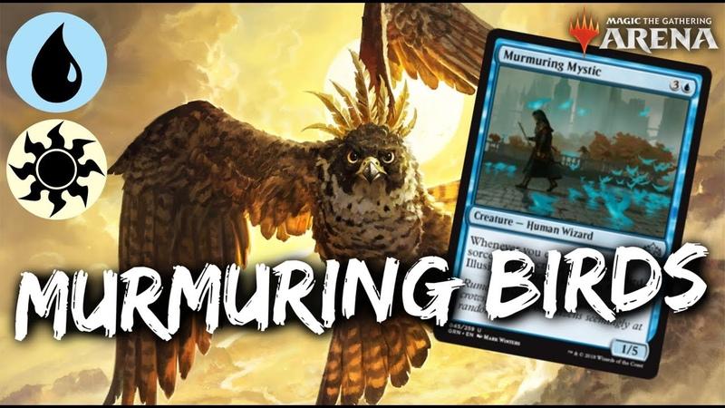 Murmuring BIRDS MTG Arena Blue White Bird Tribal Deck in GRN Standard