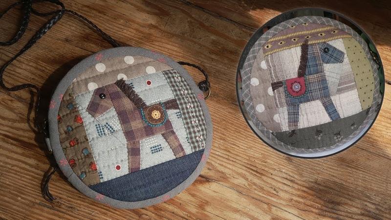 퀼트파우치, 미니 퀼트가방 만들기 │ Patchwork Horse Quilted Zipper Pouch │ How To Make DIY Crafts Tutorial