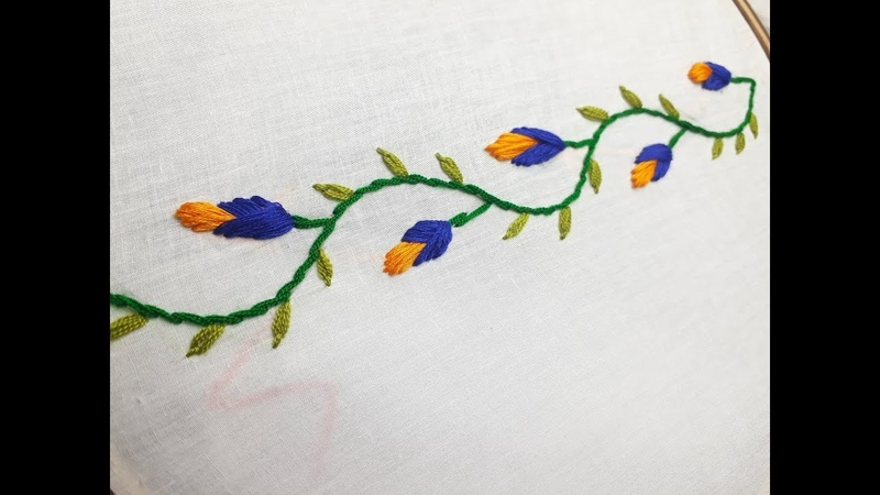 Embroidery For Border Design   Hand embroidery designs