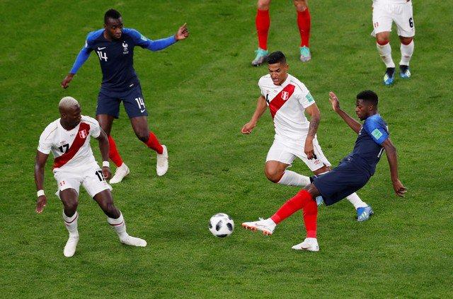 Завершился матч Франция — Перу на ЧМ-2018