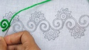 Hand Embroidery Border Line Embroidery Tutorial Easy Border Design