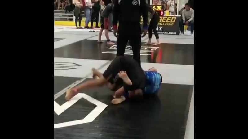 Girl vs. boy in no-gi match