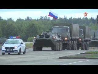 Военная полиция устроила боевое шоу на закрытии конкурса Дорожный патруль