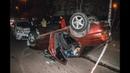В Киеве на Харьковском пьяный водитель Ford перевернулся и устроил разборки с полицией