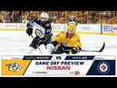 NHL 19 PS4. REGULAR SEASON 2018-2019: Winnipeg JETS VS Nashville PREDATORS. 10.11.2018. (NBCSN) !