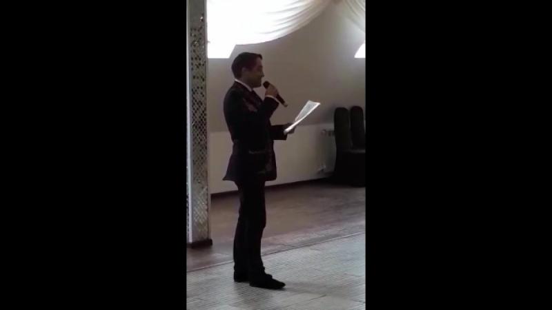 Из репертуара М.Магомаева Синяя вечность. Исполняет Сергей Петров.