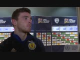 A frustrated Andy Robertson gives his reaction to the 2-1 UEFA Nations League defeat in Haifa. ISRSCO