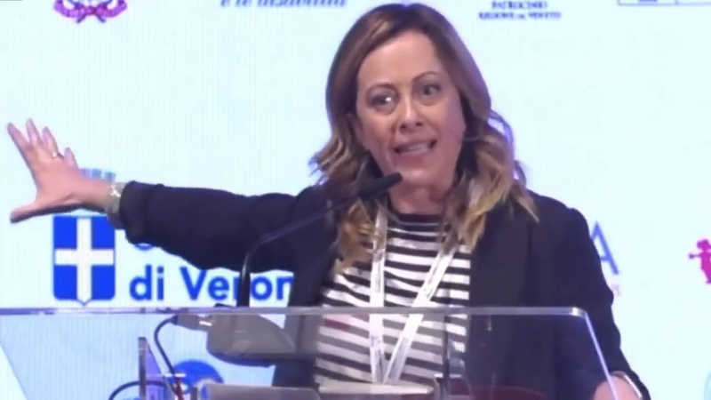 Giorgia Meloni na Světovém kongresu rodin