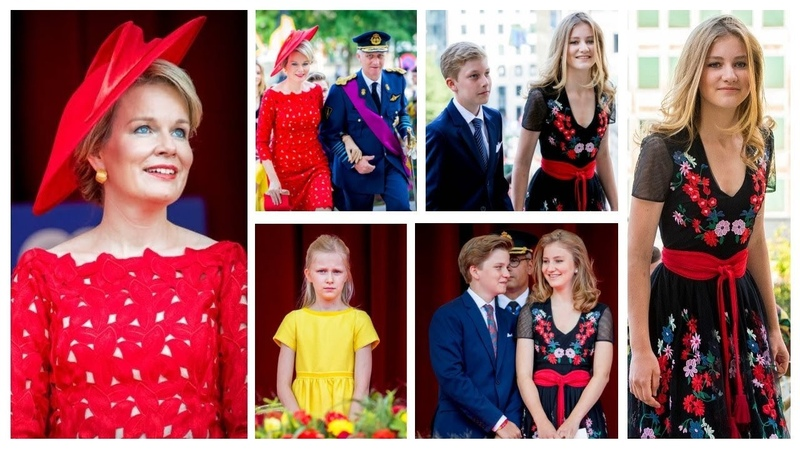 Queen Mathilde, King Philippe and Children - Belgium National Day 2018