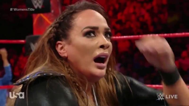 720pHD WWE Raw 08/14/17: Nia Jax vs Sasha Banks - 1 Contender Match to battle Alexa at Summerslam