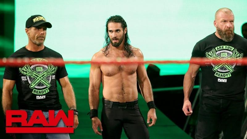 DX and The Kliq help Seth Rollins fend off The O C Raw Reunion July 22 2019