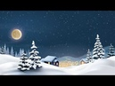 Snow Falling Animation | 4K |With Royalty Free Snowy Night Background Music - 4