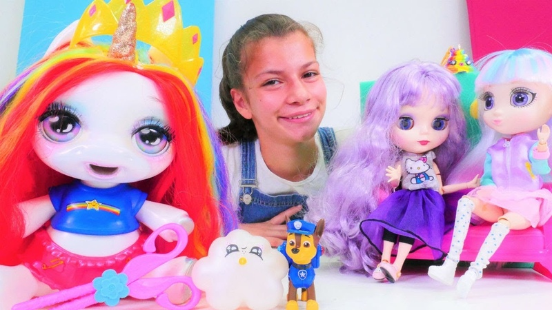 Poopsy Unicorn sahne yarışmasında! Makyaj yapma oyunu. Kız oyuncakları!