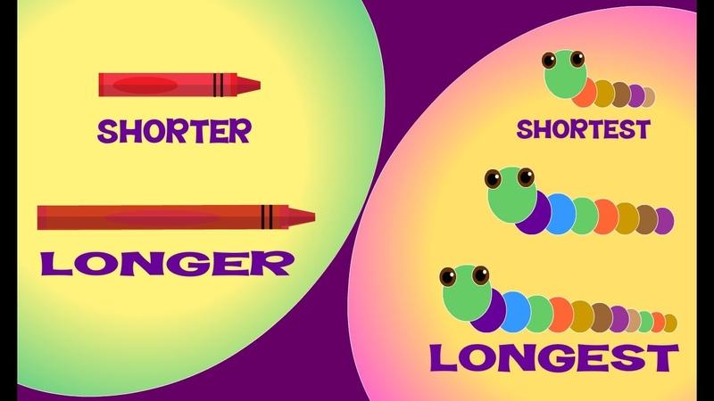 Longer and Shorter Longest and Shortest | Comparison for Kids | Learn Pre-School Concepts