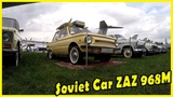 Classic Soviet Car ZAZ 968M Review. Retro Russian Vehicle. Best Vintage Car Shows in Kiev