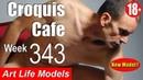 Croquis Cafe Figure Drawing Resource No 343 New model Joseph