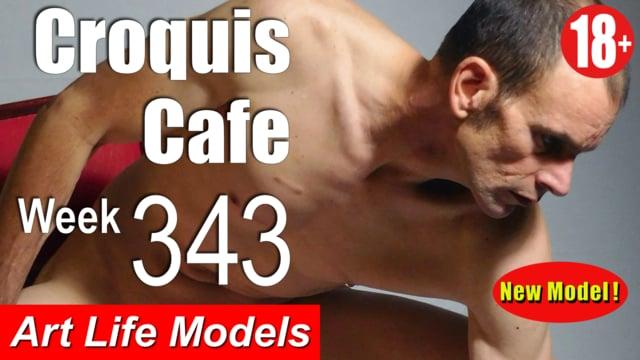 Croquis Cafe Figure Drawing Resource No. 343 (New model, Joseph)