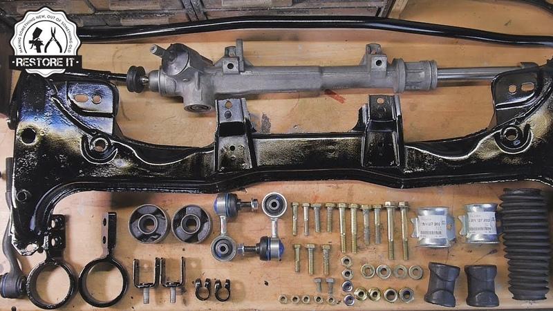BMW E30 Front Subframe Steering Rack Restoration | BMW E30 325i Sport Restoration S1 E2