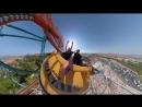 Головокружительная поездка на американских горках снятая на 360 градусную камеру