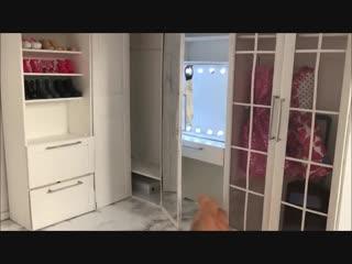 Diy- walk-in wardrobe  vanity mirror for dolls
