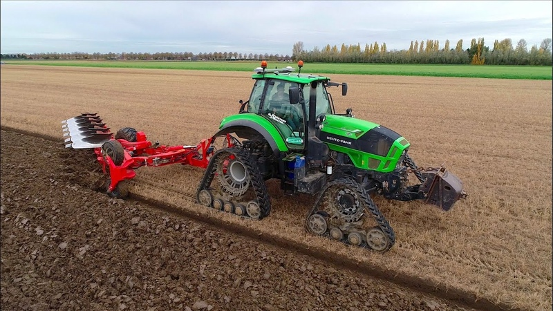 Ploughing w/ Deutz-Fahr Agrotron TTV 7250 on Soucy Tracks Kuhn Vari-Leader Plow | Mts. Hack