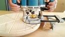 Фрезерование замкнутого паза по кругу в разделочной доске circular milling groove