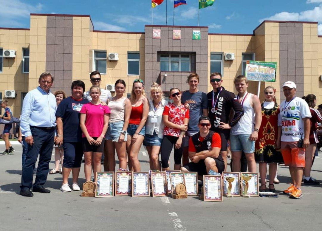Команда Санкт-Петербурга с трофеями