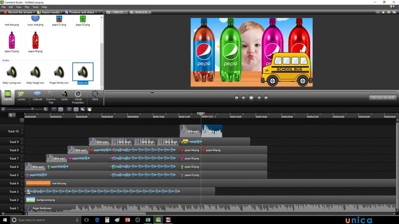 Kiếm tiền youtube với phim hoạt hình 2D làm bằng phần mềm camtasia studio-Nguyễn Công Trình