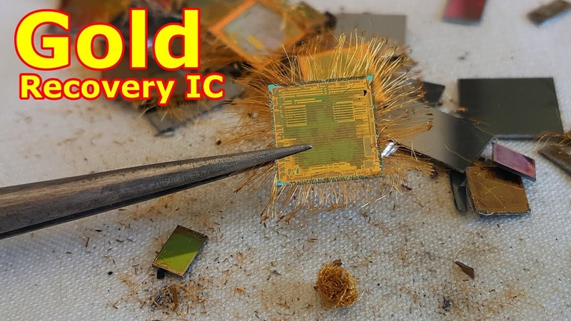 Gold recovery from IC chips BGA electronic devices.