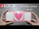 THIỆP TRƯỢT KÉP Double slider card Chi tiết trang trí Scrapbook Lovebox NGOC VANG