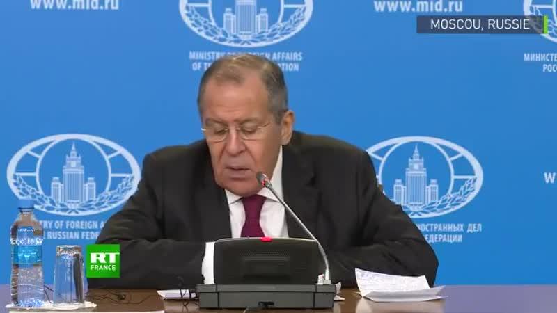 Lavrov appelle l'Europe à retrouver l'époque des grands Européens, comme Charles De Gaulle