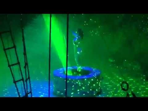 Клоуны и женщина-лазер. Лазерное 3D шоу. Цирк на льду. Казанский цирк. Ледовое шоу Айсберг.
