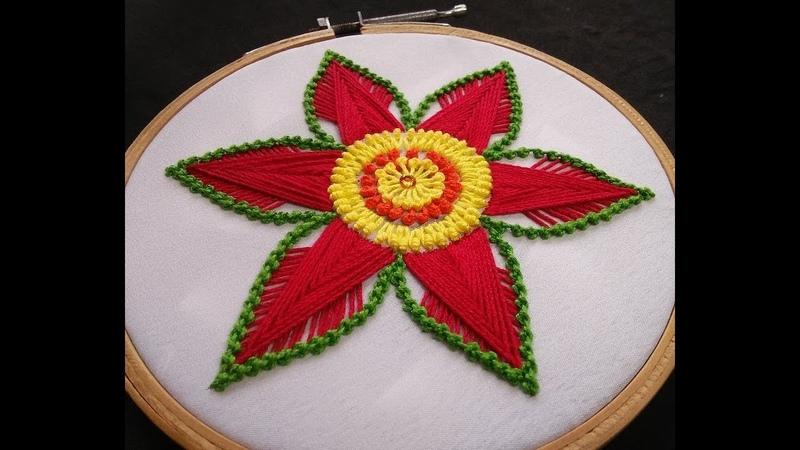 Hand Embroidery - Raised Herringbone Stitch