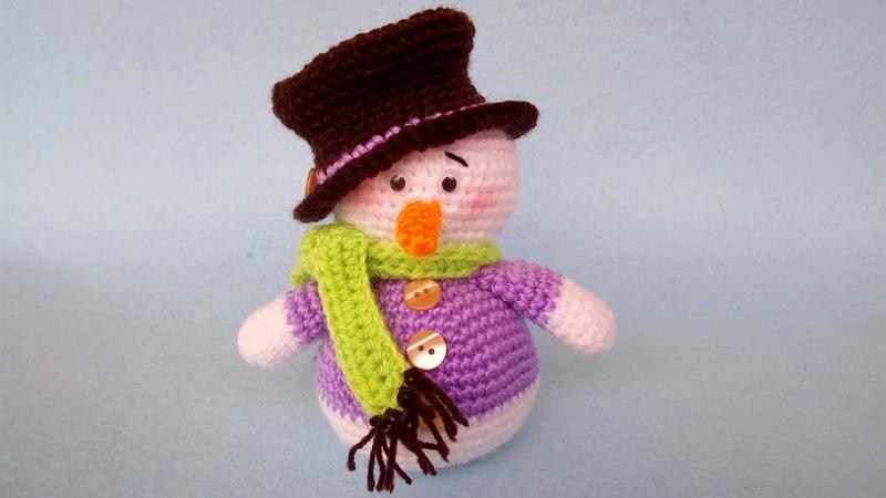 Pupazzo di Neve Uncinetto Amigurumi Tutorial Snowman Crochet Muneco de Nieve Crochet