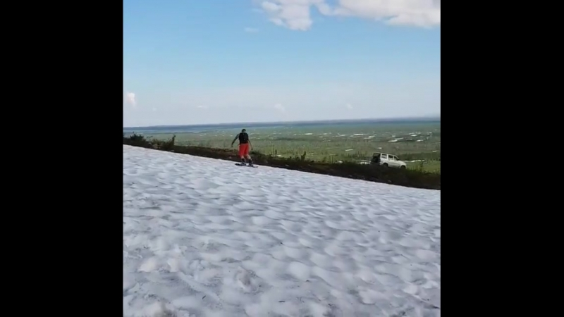 Snowboard in june