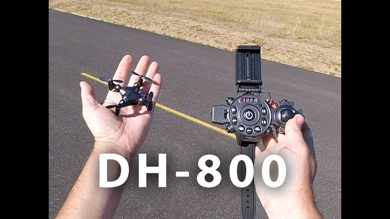 DA HENG DH 800 Micro Foldable Quadcopter Wrist Watch Design Transmitter Unboxing and Flight Review