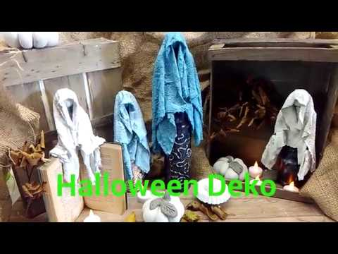 Halloween Deko 👻Geister aus Beton