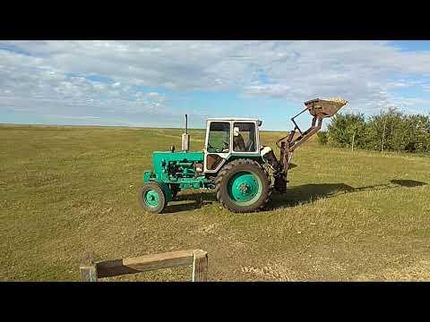 Саморобний погрузчик на задню навіску трактора ЮМЗ