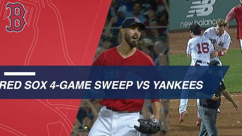 Red Sox sweep Yankees in 4 game series